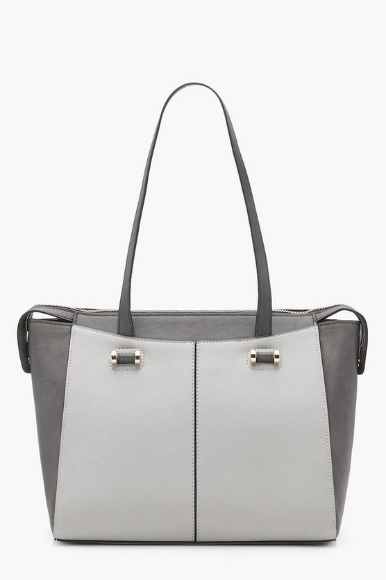 Georgie Colour Block Wing Tote
