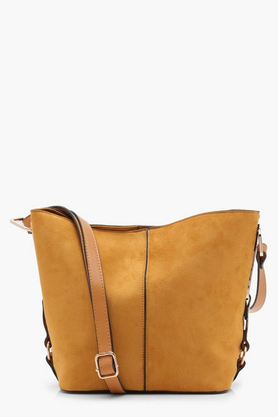 Suedette Bucket Cross Body