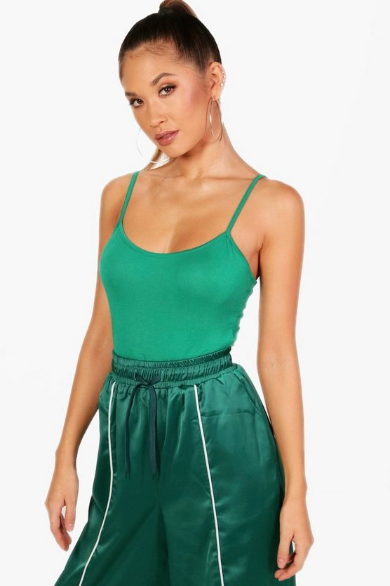 Jade Basic High Leg Strappy Bodysuit