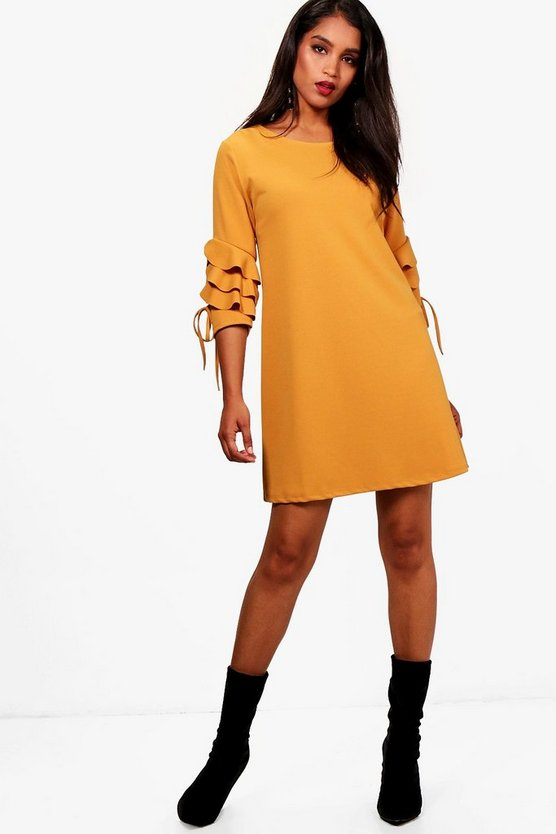 Harley Frill Tie Sleeve Shift Dress