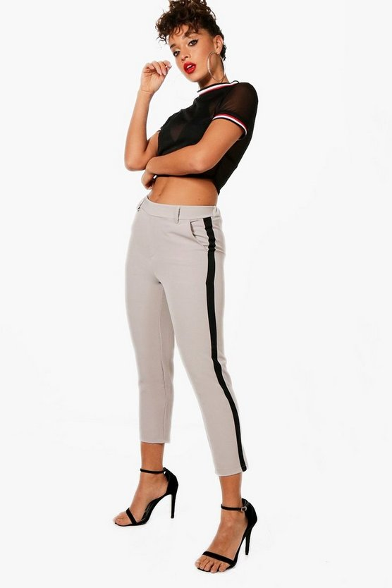 Emily Side Stripe Tapered Trouser