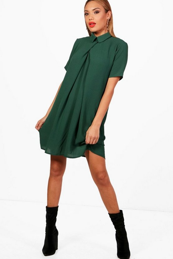 Isabella Short Sleeve Chiffon Shift Dress