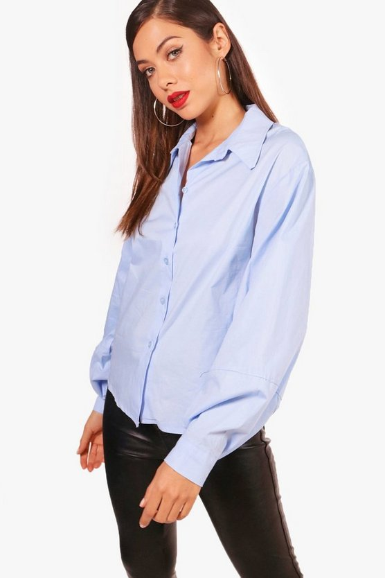Isla Balloon Sleeve Cotton Shirt