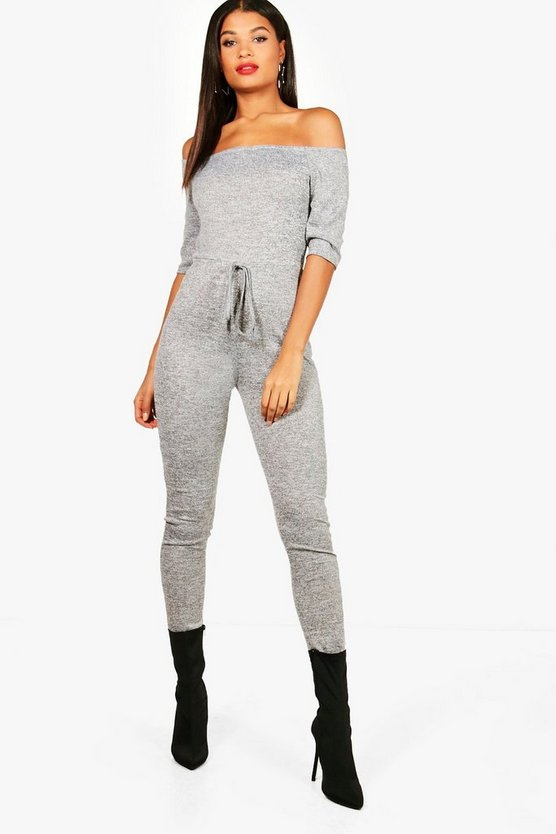 Millie Bardot Knitted Jumpsuit