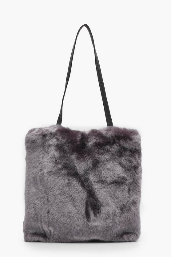 Ivy Faux Fur PU Handle Shopper