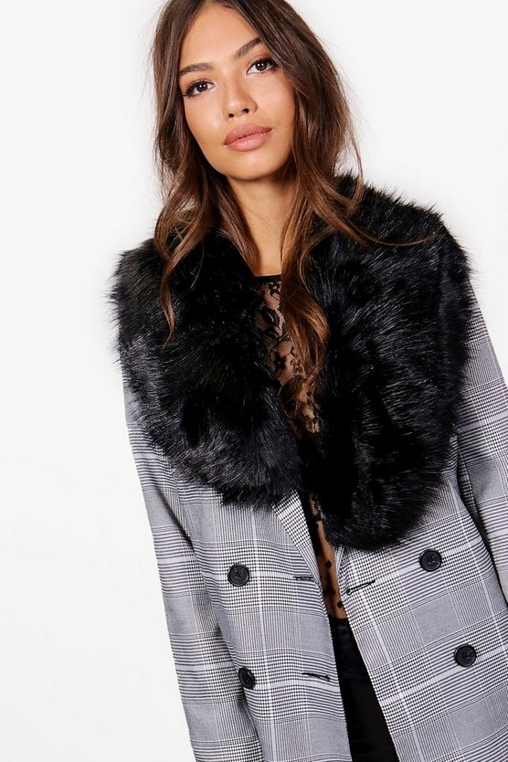 Lily Faux Fur Collar Scarf