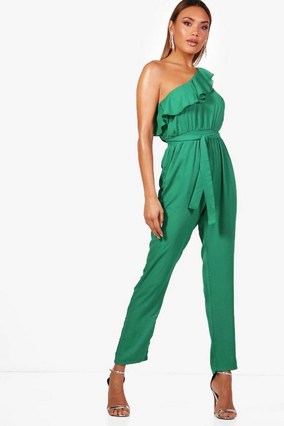 Rosie Chiffon One Shoulder Jumpsuit