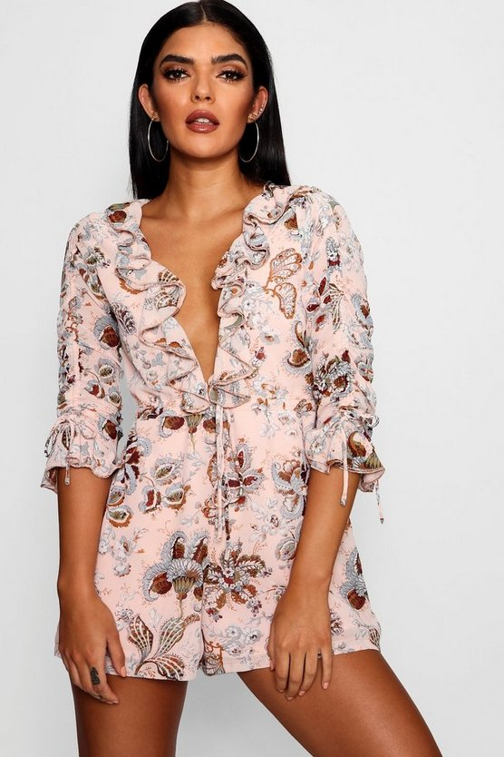 Floaty Ruffle Floral Playsuit