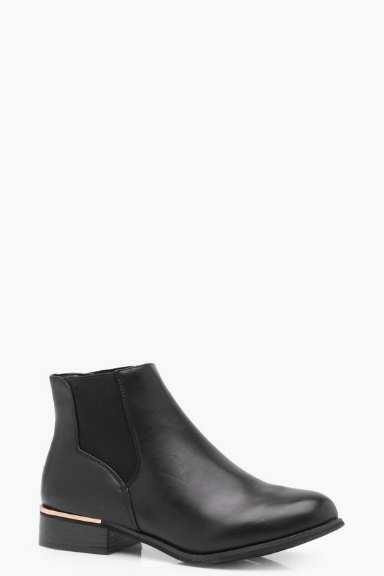 Grace Metallic Detail Chelsea Boot