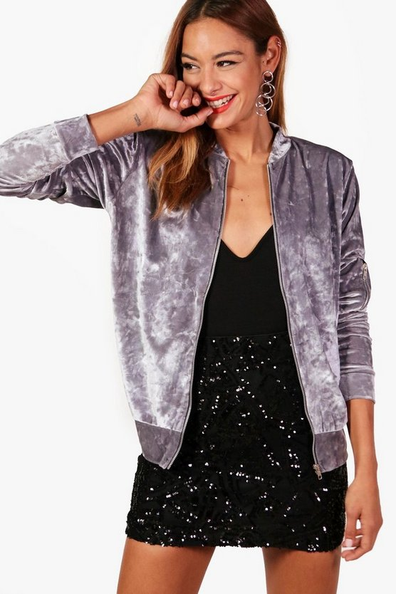 Crushed Velvet Bomber