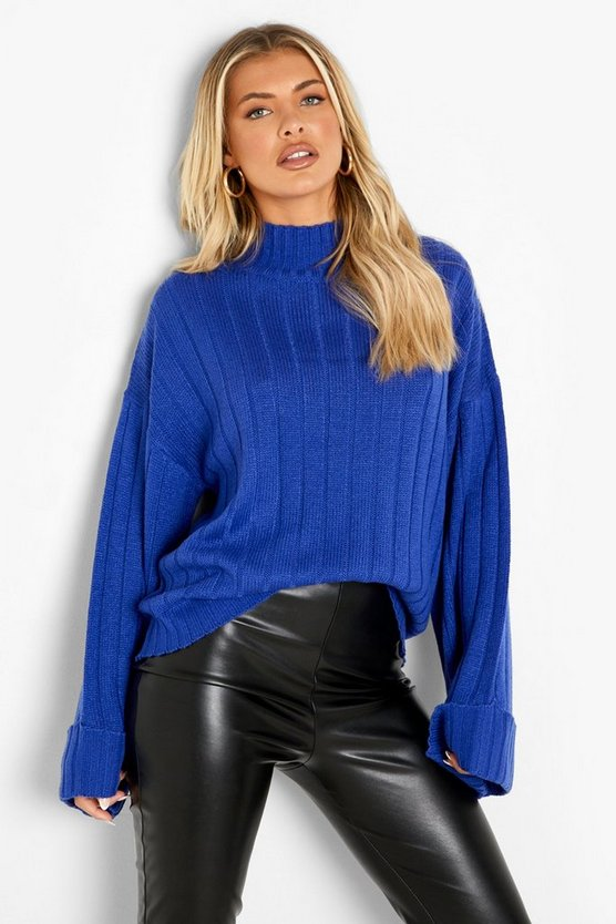 Mae Maxi Wide Sleeve Wide Rib Jumper