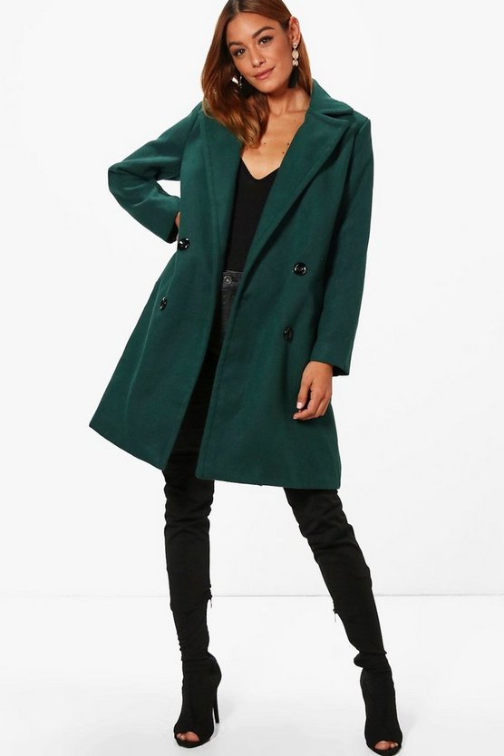 Fliss Double Breasted Wool Look Coat