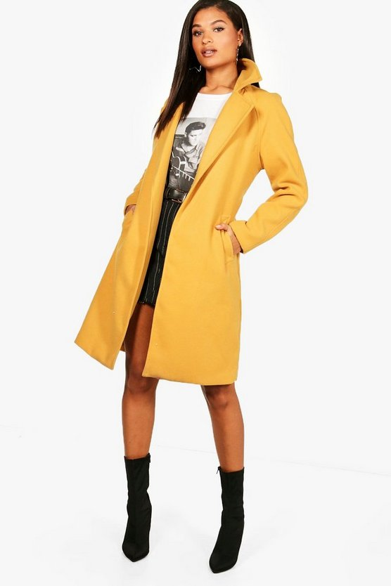 Ava Belted Wool Look Coat