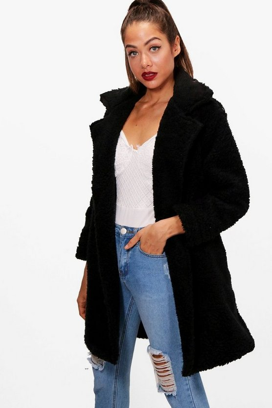 Savannah Teddy Fur Coat