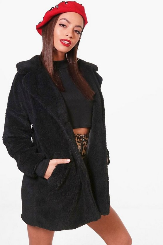 Ellie Teddy Faux Fur Coat