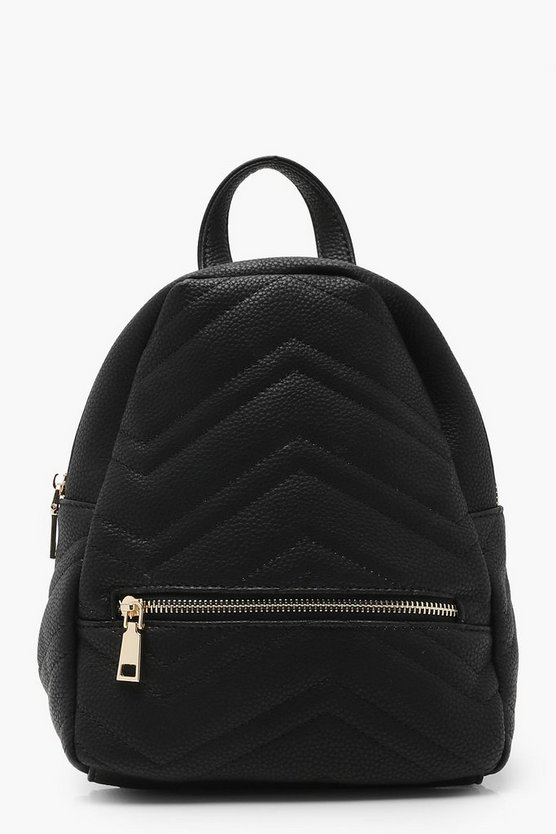 Mia Chevron Quilted Rucksack