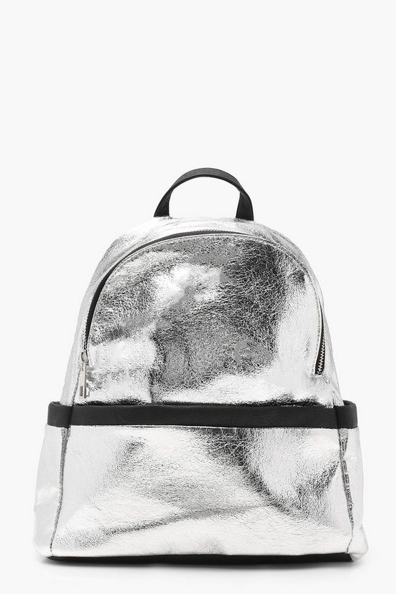 Hollie Contrast Bind Metallic Rucksack