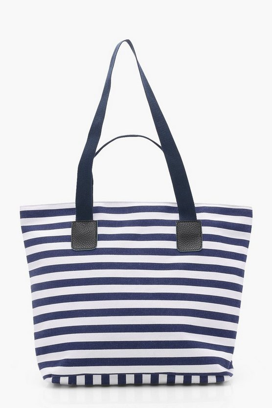 Julie Double Strap Stripe Beach Bag