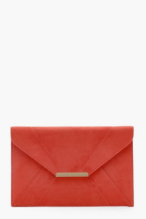 Kelly Panelled Suedette Clutch