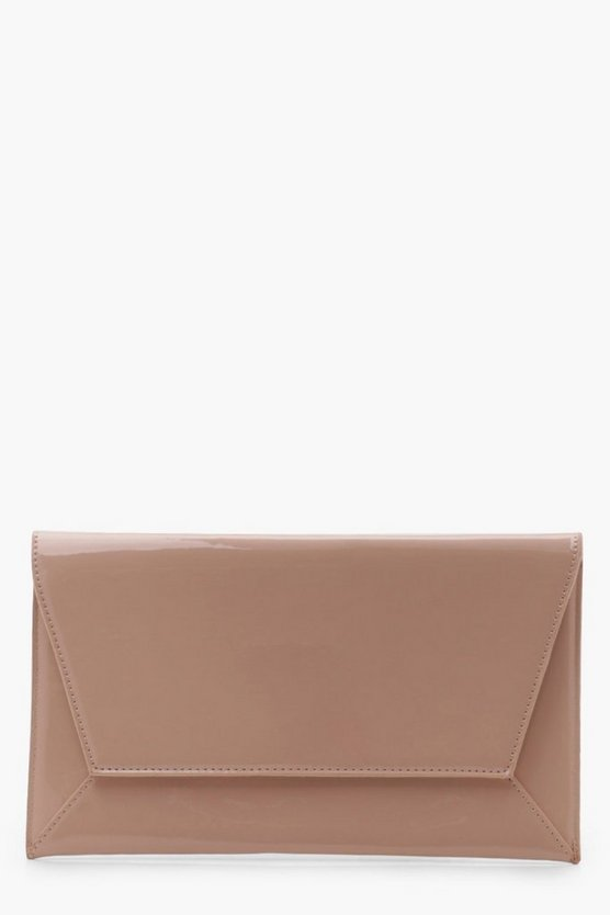 Lisa Patent Envelope Clutch