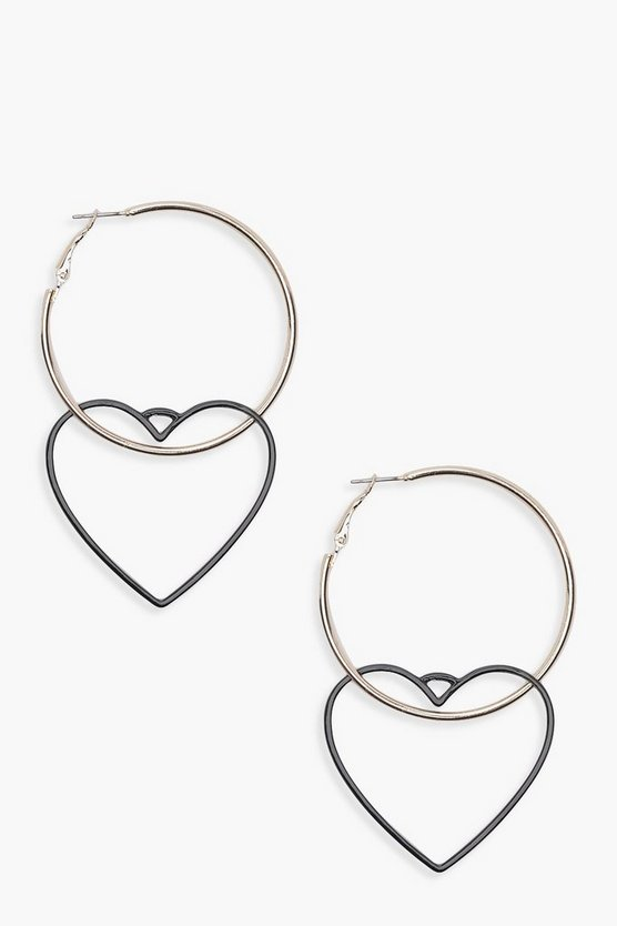 Kelly Heart Detail Hoops