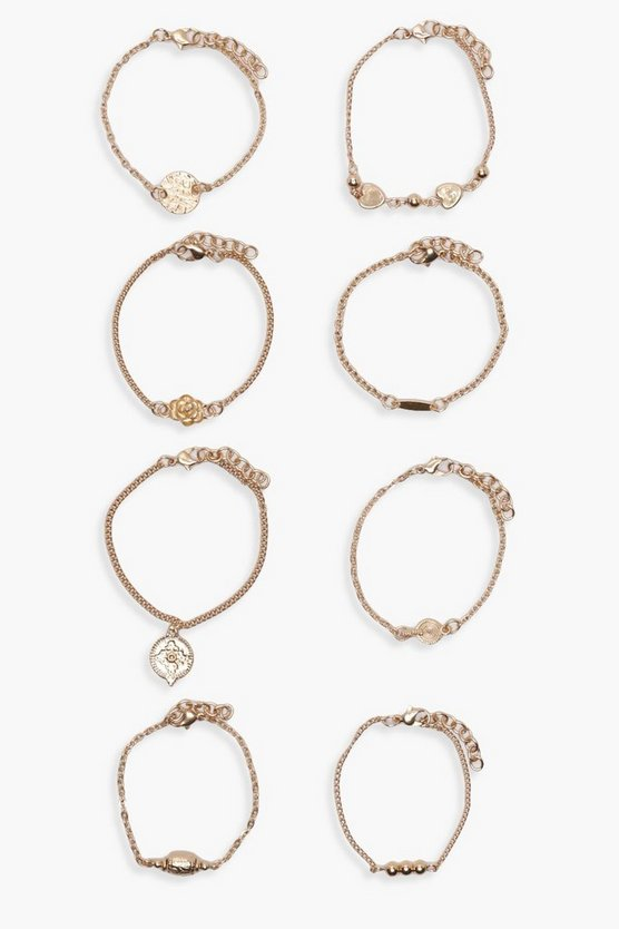 Millie Layered Chain Trinket Bracelet Pack