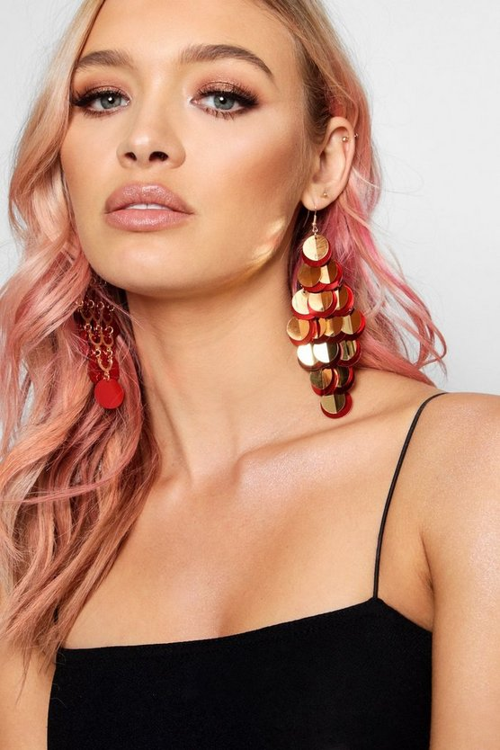 Statement Festival Sequin Earrings