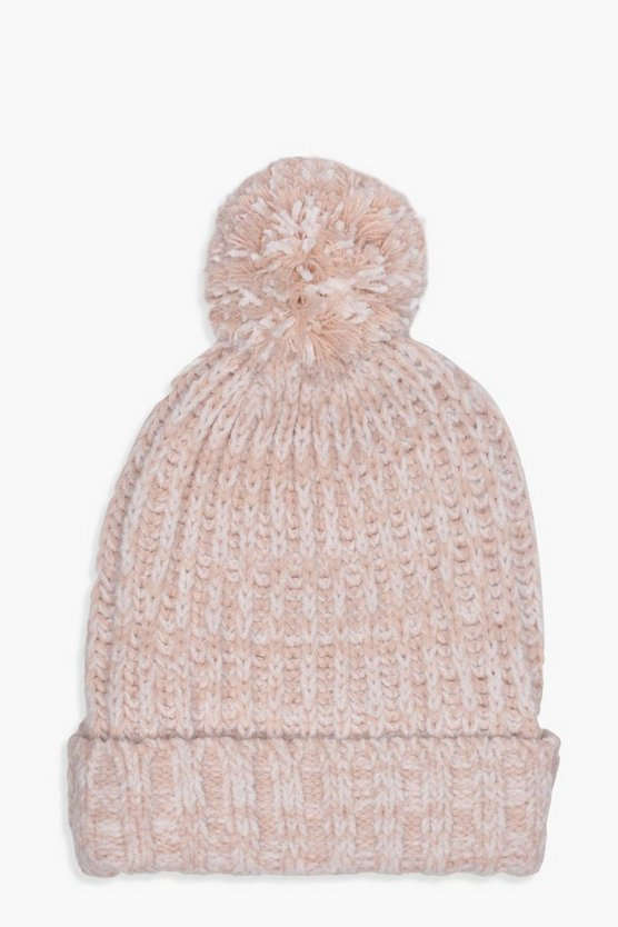 Hollie Chenille Bobble Hat