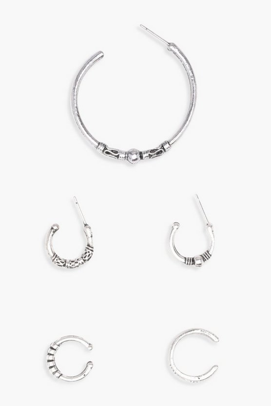 Olivia Hoop And Ear Cuff Set