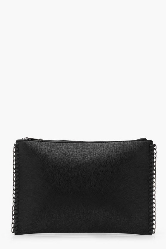 Hannah Chain Edge Trim Clutch Bag