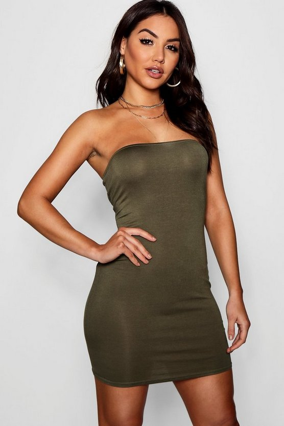 India Bandeau Jersey Bodycon Dress