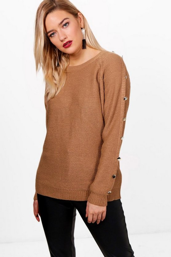 Nalor Button Detail Knitted Jumper