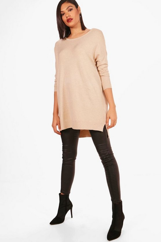 Oversized Crew Neck Knitted Top