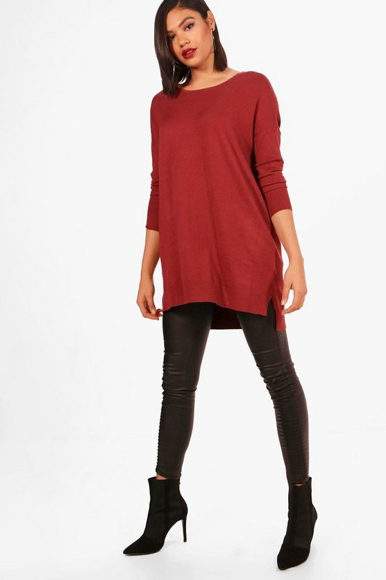 Ava Oversized Crew Neck Knitted Top