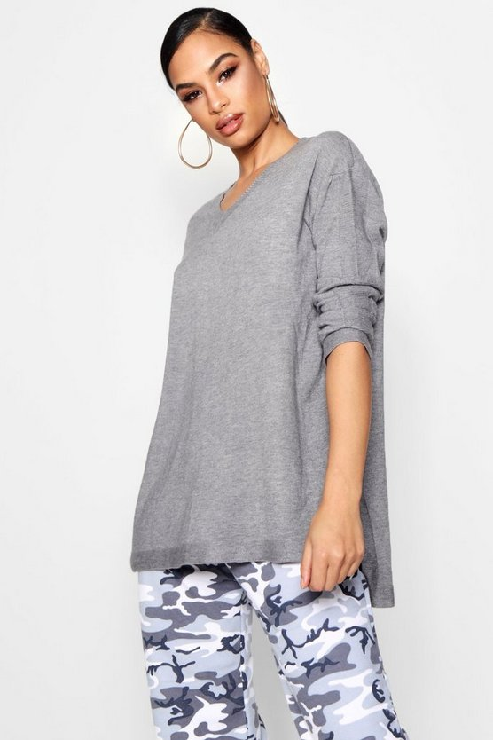 Olivia Oversized Knitted Split Side Top