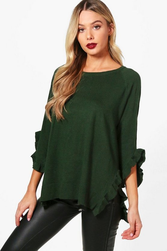 Jamie Micro Ruffle Detail Knitted Top