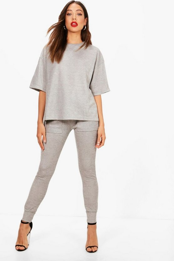 Zoe Heavy Knitted Oversized Box Top Set