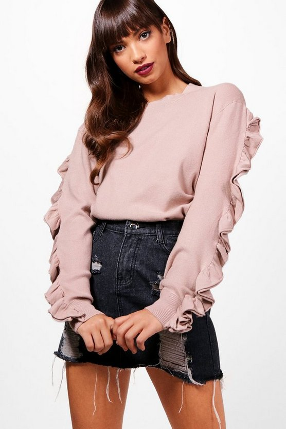 Demi Micro Ruffle Knitted Top