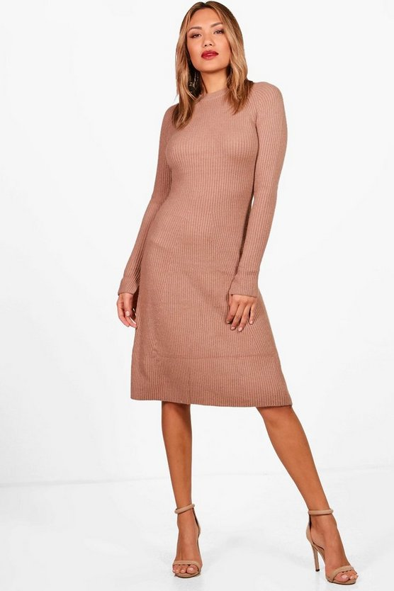 Erin Knitted Rib Midi Dress