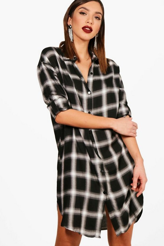 Ellie Check Shirt Dress