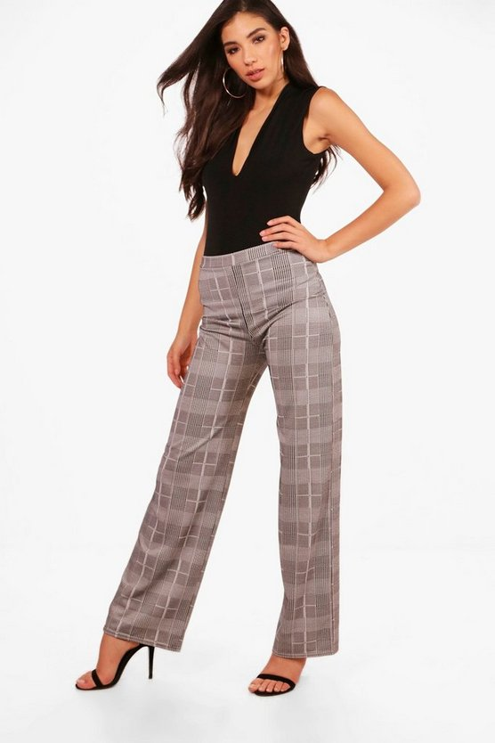 Rosie Check Wide Leg Trouser