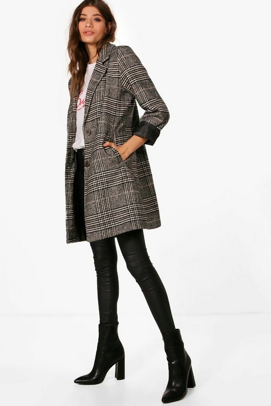 Veronica Check Coat