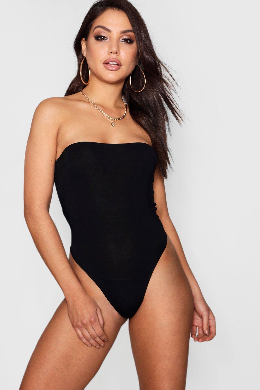 Womens Bandeau-Body - schwarz - 32, Schwarz - Boohoo.com