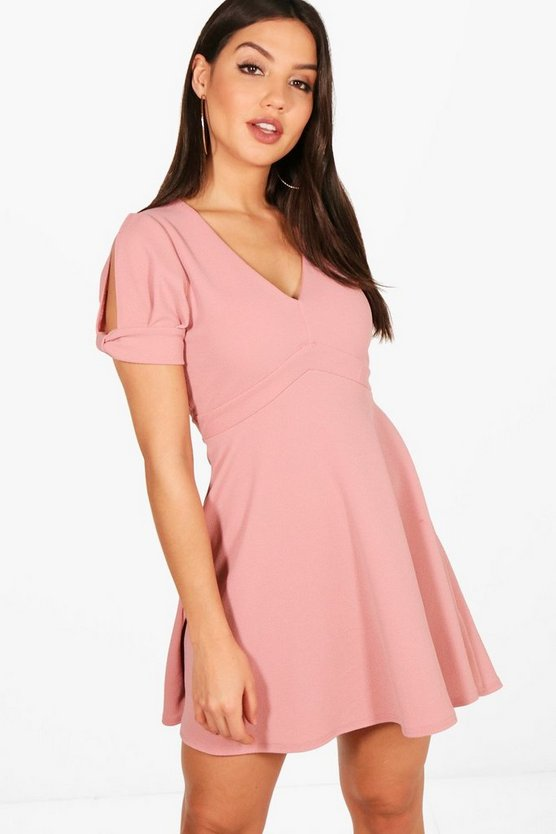 Katy Sleeve Detail Skater Dress
