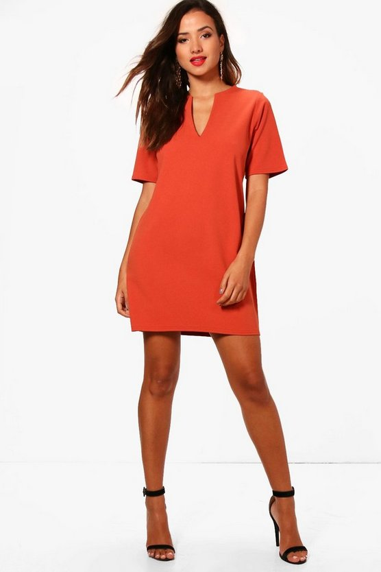 Becky Formal Boxy Clean Cut Shift Dress