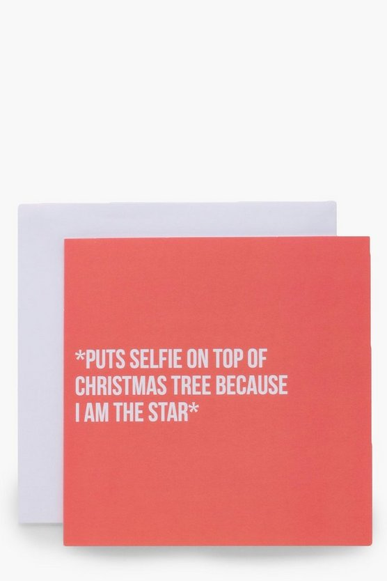 Selfie Christmas Tree Card