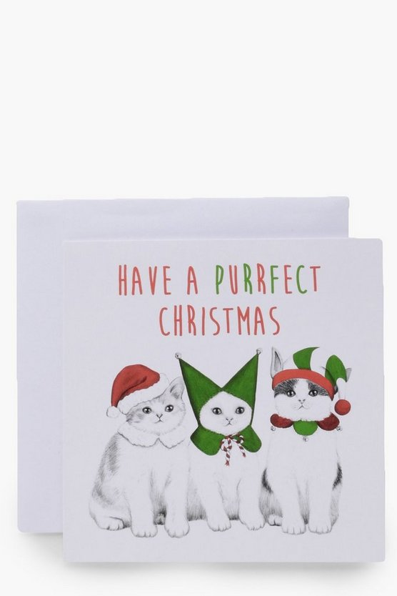 Purrfect Cat Christmas Card