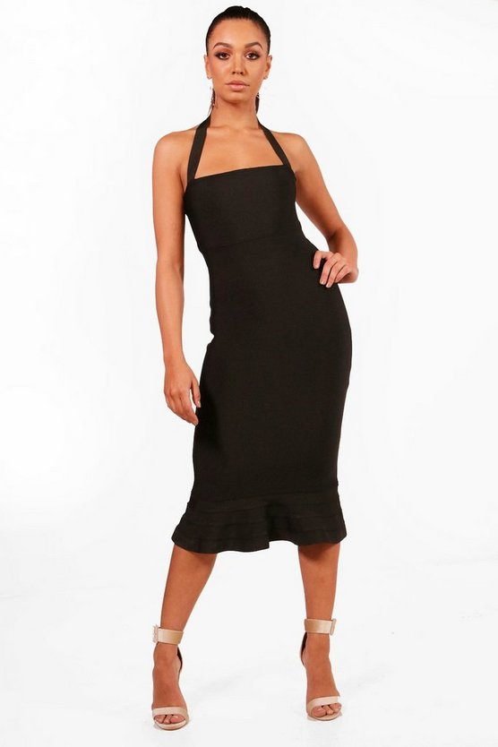 Boutique Amal Bandage Peplum Hem Midi Dress