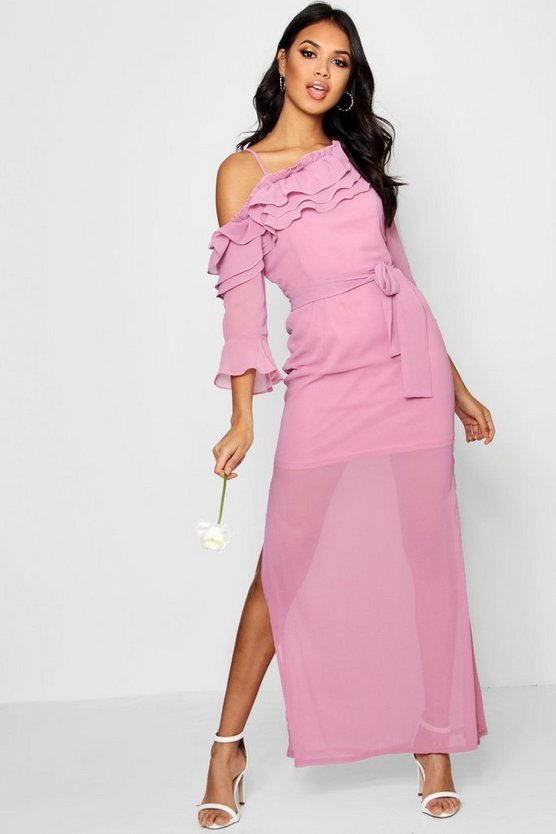 Boutique Ailya Off the Shoulder Maxi Dress