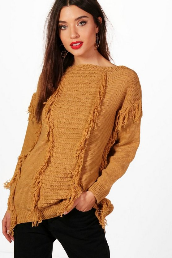 Katie Tassel Fronted Knitted Jumper